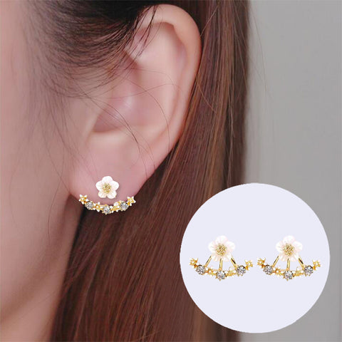 Flower Dangle Studs