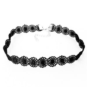 Black Lace Sunflower Choker