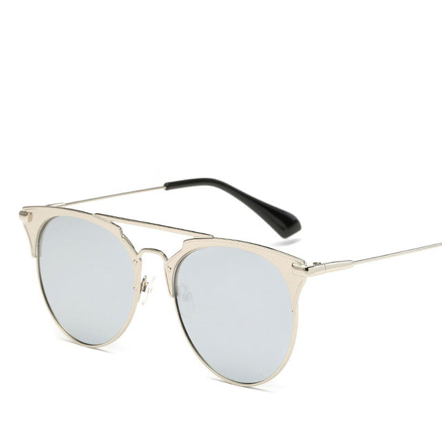 Silver Cat Eye Glasses