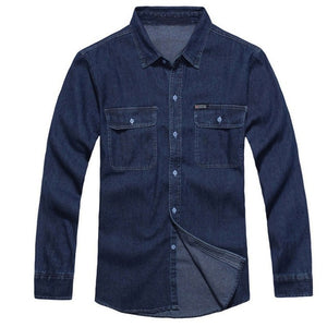 Men's Fashion Denim Long Sleeve Shirt
