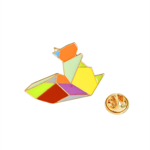 Geometric Squirrel Pins
