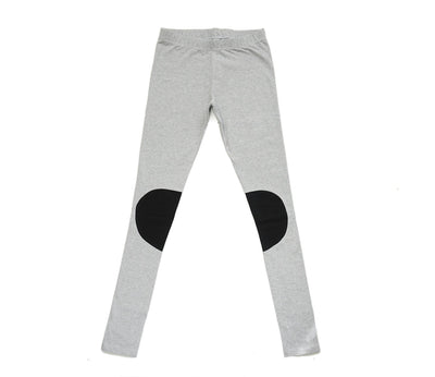 Papu Women Patch Leggings  Melange grey, Black