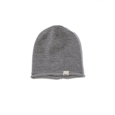 By.Heritage Knitted Beanie in Grey Melange
