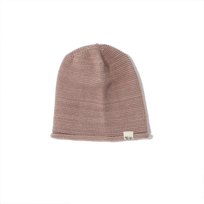 By.Heritage Knitted Beanie in Old Pink