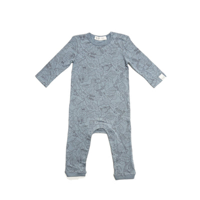 By.Heritage Petter Playsuit Romper in Sea Blue