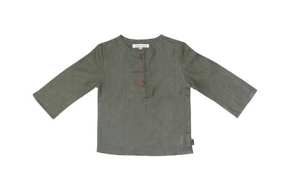 Hubble + Duke Jasper Henley Shirt Long-sleeve shirt Hubble + Duke 86/92 Olive