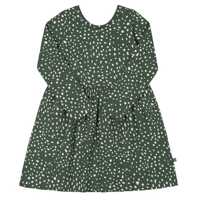 Kaiko Wild Dots Dress Ls, Moss Dress Kaiko 74/80