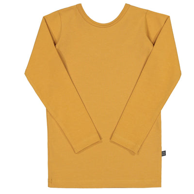 Kaiko Cross Shirt Ls, Ochre Long Sleeved Shirts Kaiko