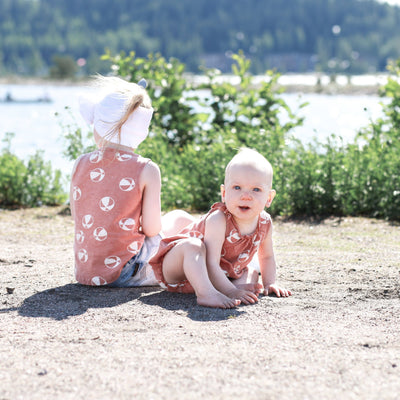 Rylee & Cru Shoulder Tie Bubble Onesie Beach Balls