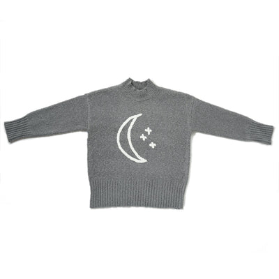 Rylee & Cru Moon Embroidered Cassidy Sweater