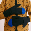 Papu Kivi Mittens Vivid Blue and Black Powder Peach Mittens Papu