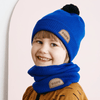 Papu Tube Scarf Vivid Blue and Powder Peach Headwear Papu