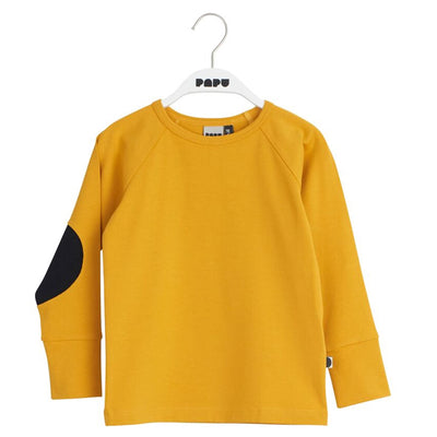 Papu Patch Shirt Earth Ochre Black Long Sleeved Shirts Papu