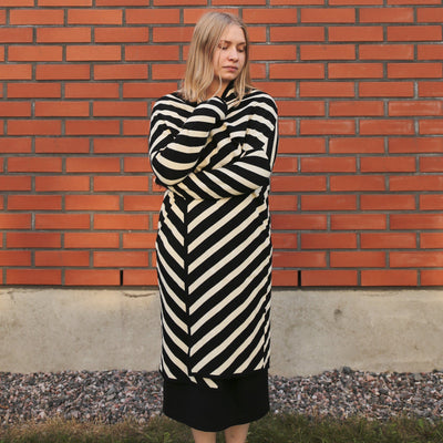 Papu Knit Stripe Long Cardigan
