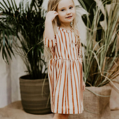 Kaiko Basic Dress, Boho Stripe Dress Kaiko