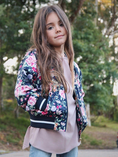 Floral Bomber Jacket Kids