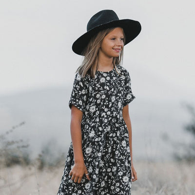 Rylee + Cru Midnight Floral Kat t-Shirt Dress Dress Rylee + Cru