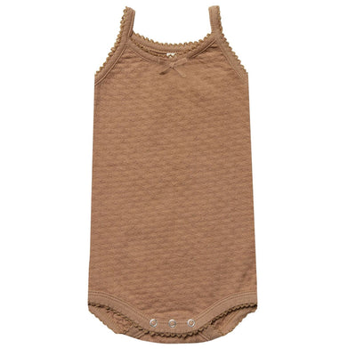 Quincy Mae Pointelle Tank Onesie, Rose + Copper Onesies Quincy Mae 6-12m copper