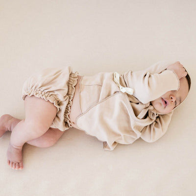 Quincy Mae Gathered Bloomer, Rose, Ivory + Sage