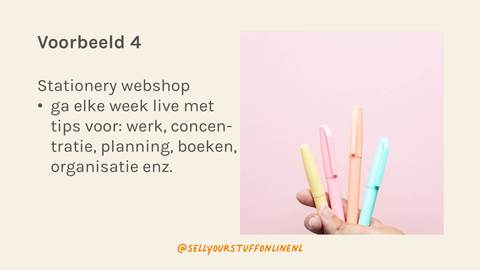 Stationery webshop op Clubhouse