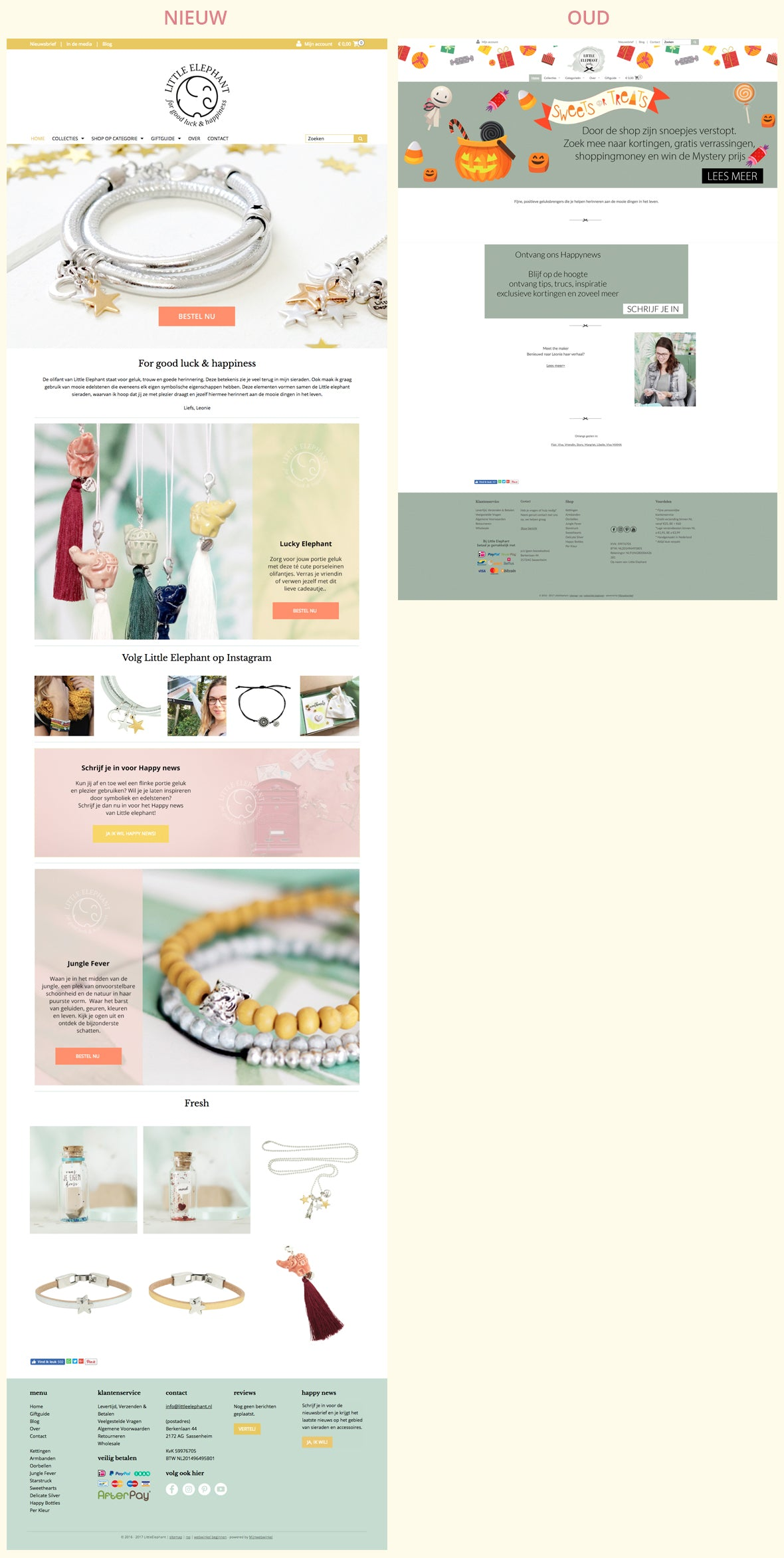 Little elephant make over webshop