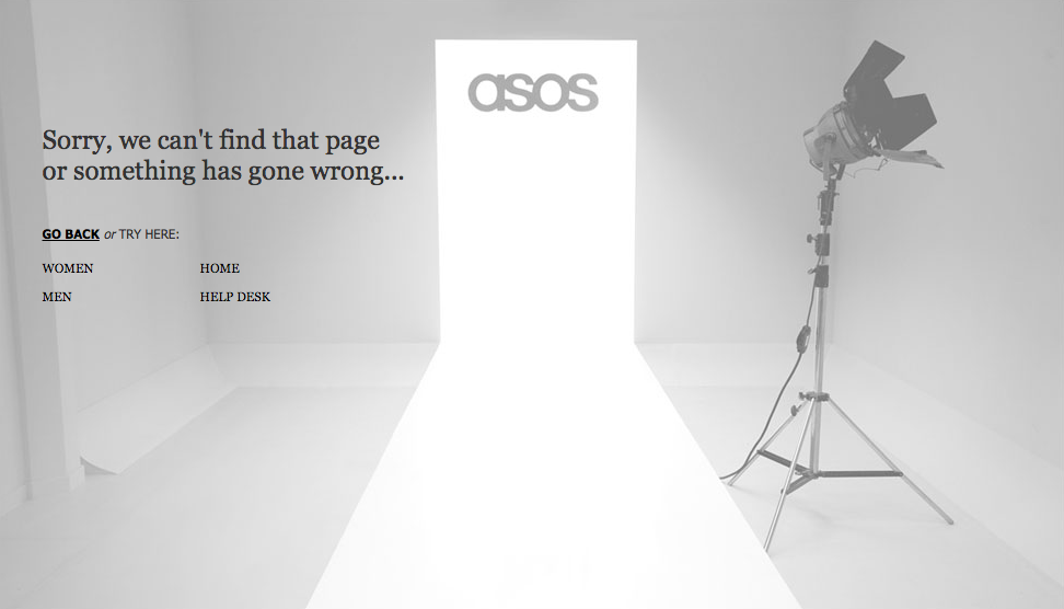ASOS 404 page