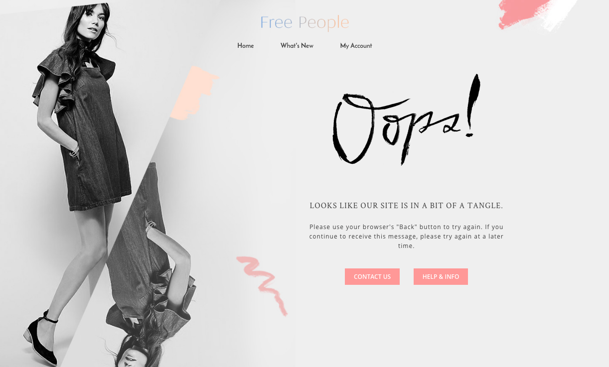 Free People 404 page