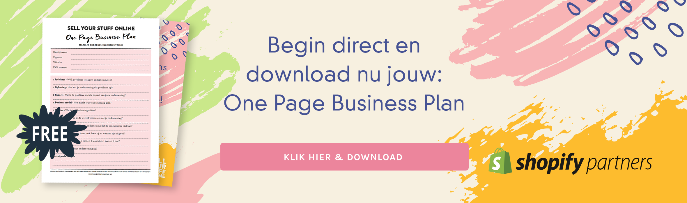 One Page Business Plan Nederlands