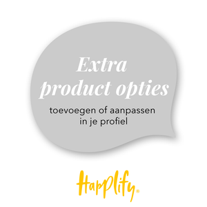 Happlify - Extra product opties