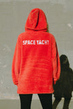 SPACE YACHT FLEECE SHERPA HOODIE - BURNT ORANGE