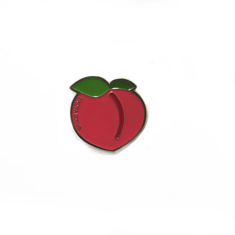 Space Peach Enamel Pin