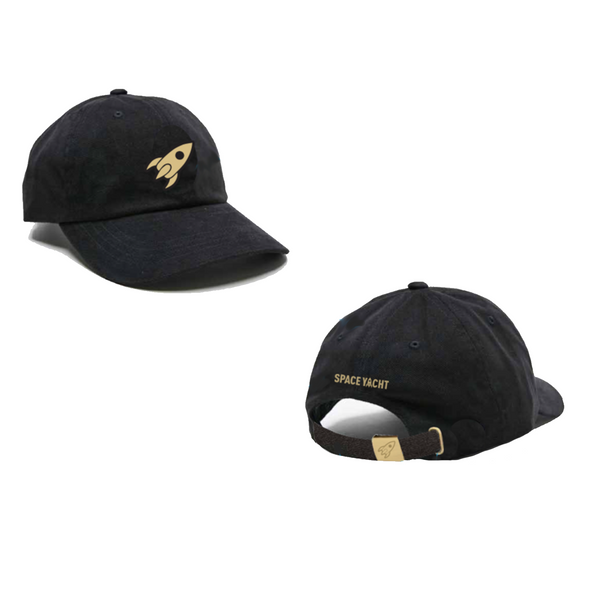 """Gold Collection"" Black Canvas Dad Hat - Limited Edition"