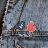 Space Yacht Logo Enamel Pin