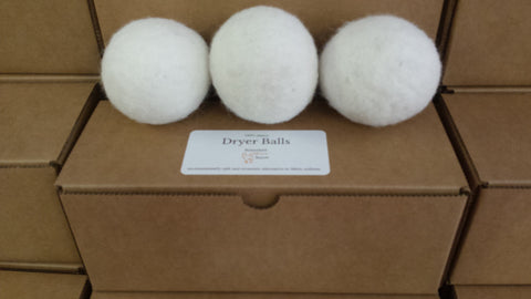Dryer Balls - 100% Alpaca - set of 3