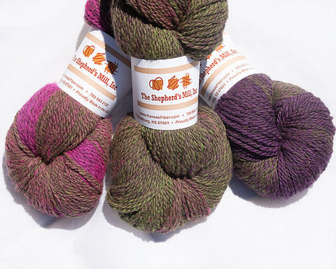 Yarn - dk - Wool/Bamboo - Berry Bright Gradient by The Shepherd's Mill