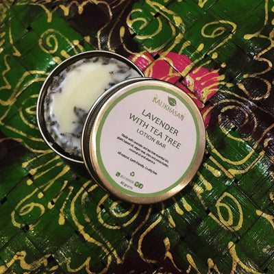 Lavender With Tea Tree Lotion Bar