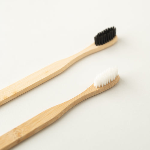 Bamboo Toothbrush (with black or white bristles)