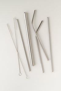7-Piece Metal Straw Set