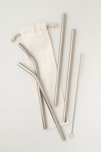 5-Piece Metal Straw Set