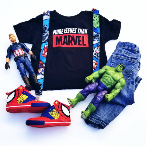 More Issues Than Marvel Tee, Funny Avengers Shirt for Kids, Kids Comic Book Tee