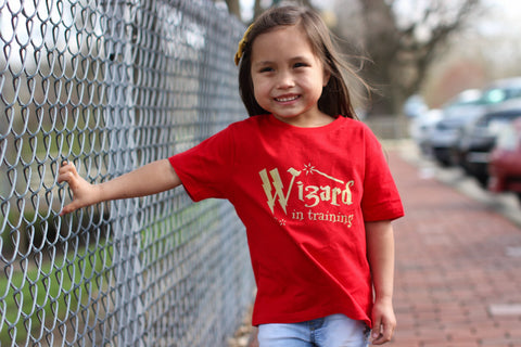 Wizard in Training T-shirt, Harry Potter T-shirt for Kids, Toddler Harry Potter Shirt - Nerd Under The Stairs