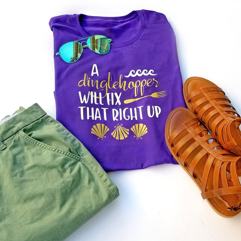 A Dinglehopper Will Fix That Right Up Kids T-shirt, Kids Disney Little Mermaid Shirt - Nerd Under The Stairs