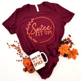 Spice it up T-shirt, Fall Inspired Pumpkin Spice T-shirt - Nerd Under The Stairs