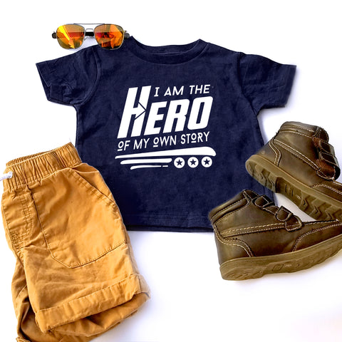 I am the Hero of My Own Story Tee, Kids Superhero Tee, Kids Empowerment T-shirt