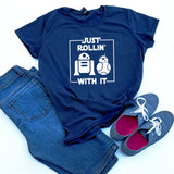 Just Rollin With It Star Wars Droid T-shirt, Funny Star Wars Shirt