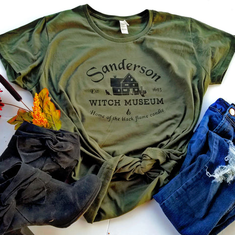 Sanderson Witch Museum T-shirt, Hocus Pocus inspired Shirt - Nerd Under The Stairs