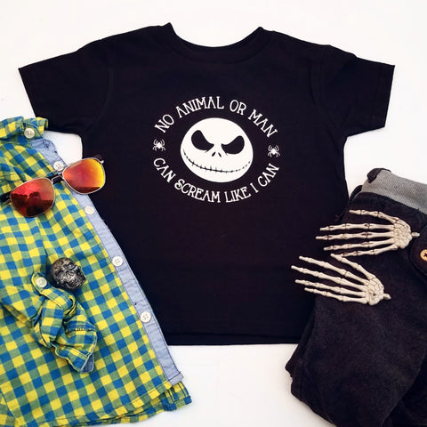 Scream Like I Can Jack Skellington T-shirt, Kids Nightmare Before Christmas Shirt - Nerd Under The Stairs