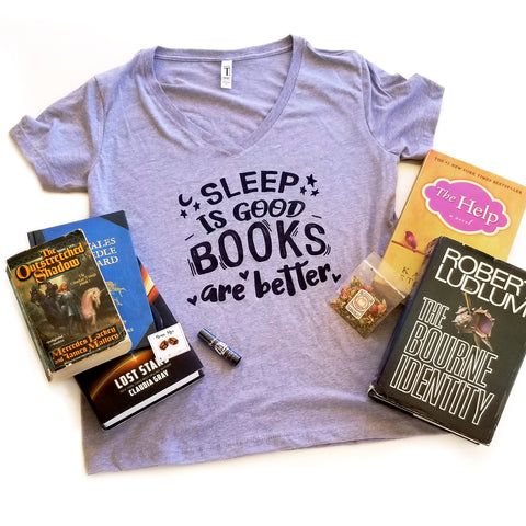 Sleep is Good Books Are Better T-shirt