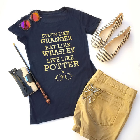 Study Like Granger Harry Potter T-shirt, Ravenclaw Shirt