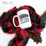 Shhhh No One Cares Mug, Hilarious Gag Gift, Sarcastic Mug, Funny Coffee Cup - Nerd Under The Stairs
